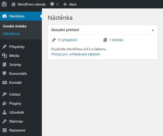 Přihlášení do administrace WordPressu