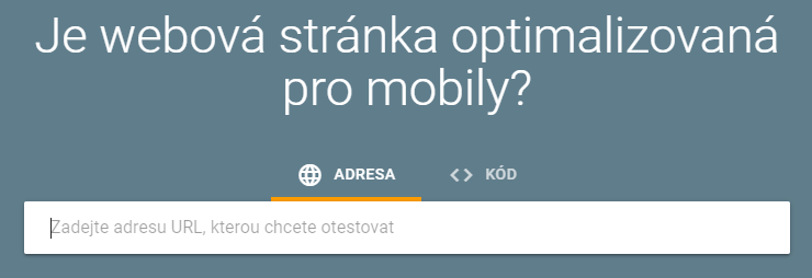 Test optimalizace pro mobily