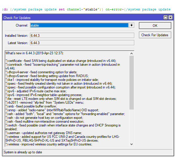 Ošetření chyby scriptu použitím on-error